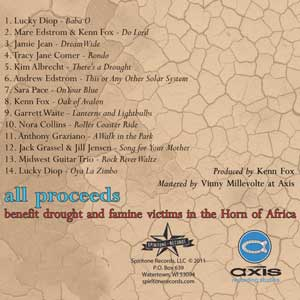 CD, Various Artists - There's a Drought - back cover